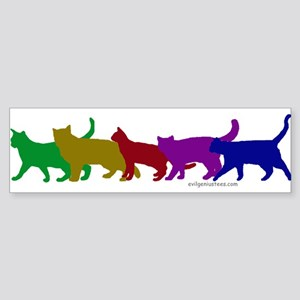 Rainbow cats Bumper Sticker