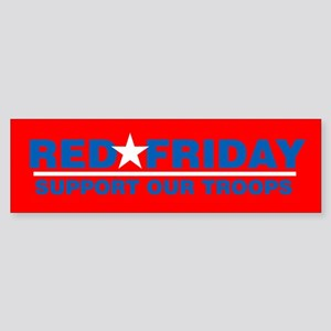Red Friday logo Bumper Sticker on red