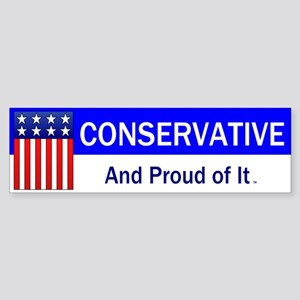 Conservative Slogan Sticker (Bumper)