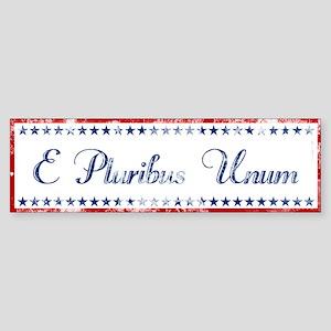 E Pluribus Unum Distressed Bumper Sticker
