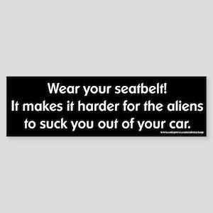 Wear Your Seatbelt Aliens Bumper Sticker