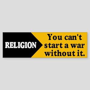 RELIGION WAR Bumper Sticker