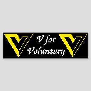 V for Voluntary Bumper Sticker