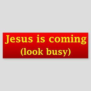 Jesus is coming... Bumper Sticker
