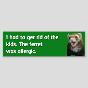 Get rid of kids bumper sticker--avocado