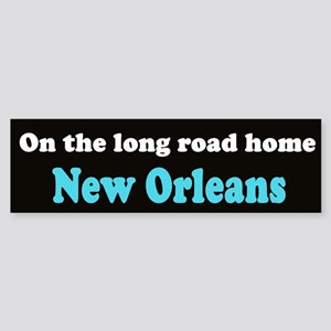 On the long road home (bumper sticker)