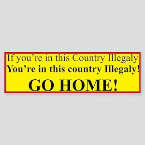 Illegal Aliens Bumper Sticker