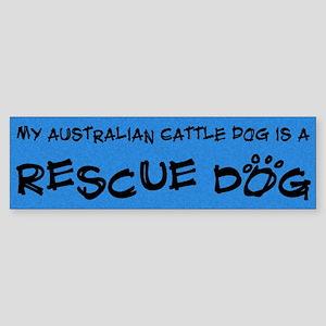 Rescue Dog Australian Cattle Dog Bumper Sticker