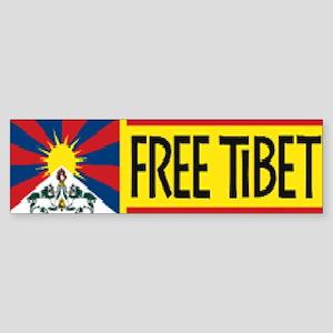 Free Tibet ! Bumper Sticker