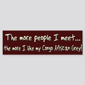 More People Congo African Grey Bumper Sticker