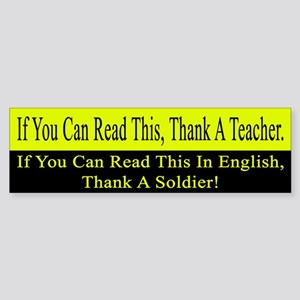 If you can read this, thank a teacher Sticker (Bum