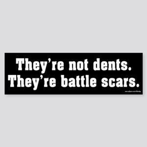 They're Not Dents Bumper Sticker