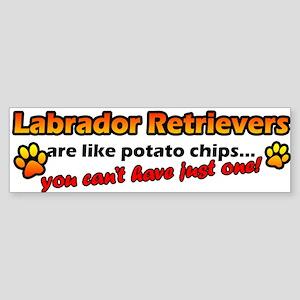 Potato Chips Labrador Retriever Bumper Sticker