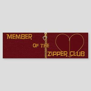 Zipper Club Bumper Sticker