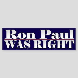 Ron Paul Cool Political Bumper Sticker