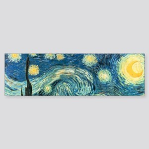 Vincent van Gogh's Starry Night Bumper Sticker