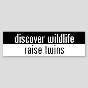 """raise twins"" Bumper Sticker"