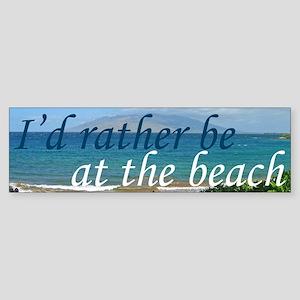 Beautiful Beach Sticker (Bumper)