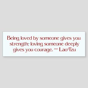 Love quote by Lao-Tzu Bumpersticker