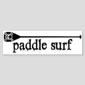Paddle Surf Skull Bumper Sticker