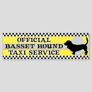 Official Basset Hound Taxi Bumper Sticker