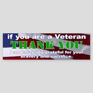 Thank you Veterans Bumper Sticker Sticker (Bumper)