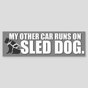 Sled Dog Bumper Sticker