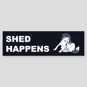 Shed Happens Bumper Sticker