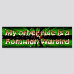 My Other Ride Is A Romulan Warbird Sticker (Bumper