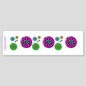 Fibonacci Flower Power Sticker (Bumper)