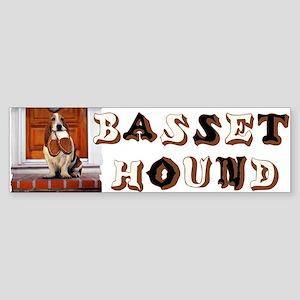 BASSET HOUND Sticker (Bumper)