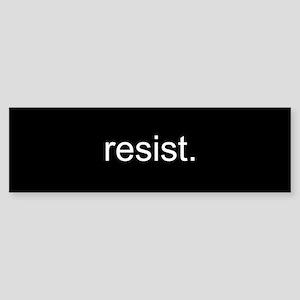 resist - Black Sticker (Bumper)