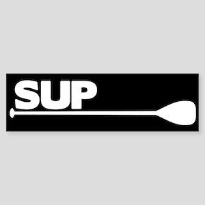 SUP Paddle black Sticker (Bumper)