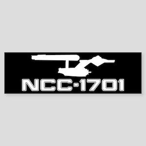 NCC-1701 (black) Sticker (Bumper)