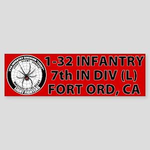1-32 Infantry Sticker (Bumper)
