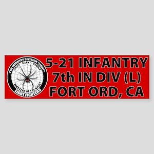 Red 5-21Infantry Sticker (Bumper)