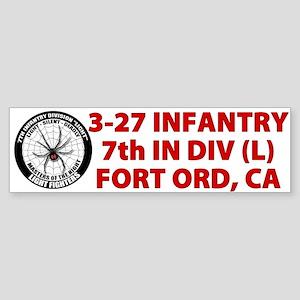 White 3-27 Infantry Sticker (Bumper)