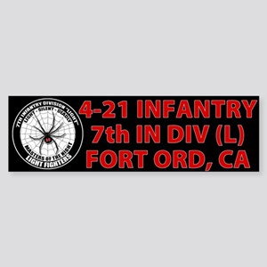 Black 4-21 Infantry Sticker (Bumper)