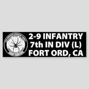 Black 2-9 Infantry Sticker (Bumper)