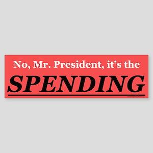 Spending Bumper Sticker