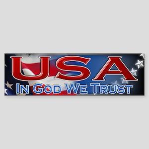 USA - In God We Trust - Sticker (Bumper)