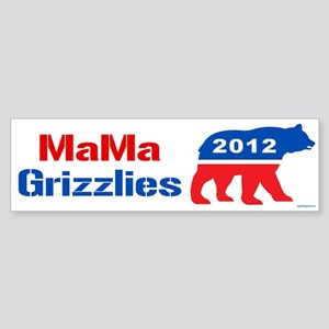 MaMa Grizzlies 2012 Sticker (Bumper)