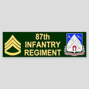 87th Infantry Regiment <BR>SSG Bumper Sticker