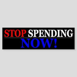 Stop Spending Now Sticker (Bumper)