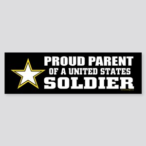 Proud Parent of a U.S. Soldier/BLK (Bumper)