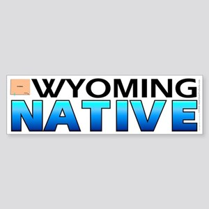 Wyoming native (bumper sticker 10x3)