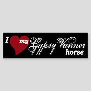 I love my Gypsy Vanner horse Bumper Sticker