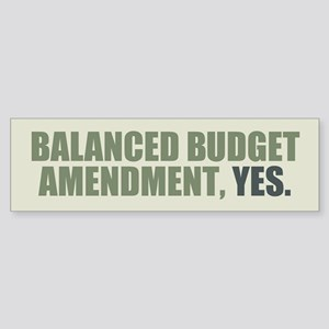 Balanced Budget Amendment Sticker (Bumper)
