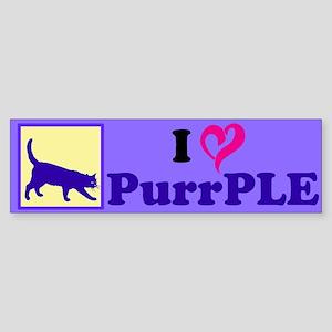 Purrple Sticker (Bumper)