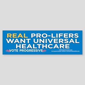 Real ProLifers/Health (Bumper Sticker)